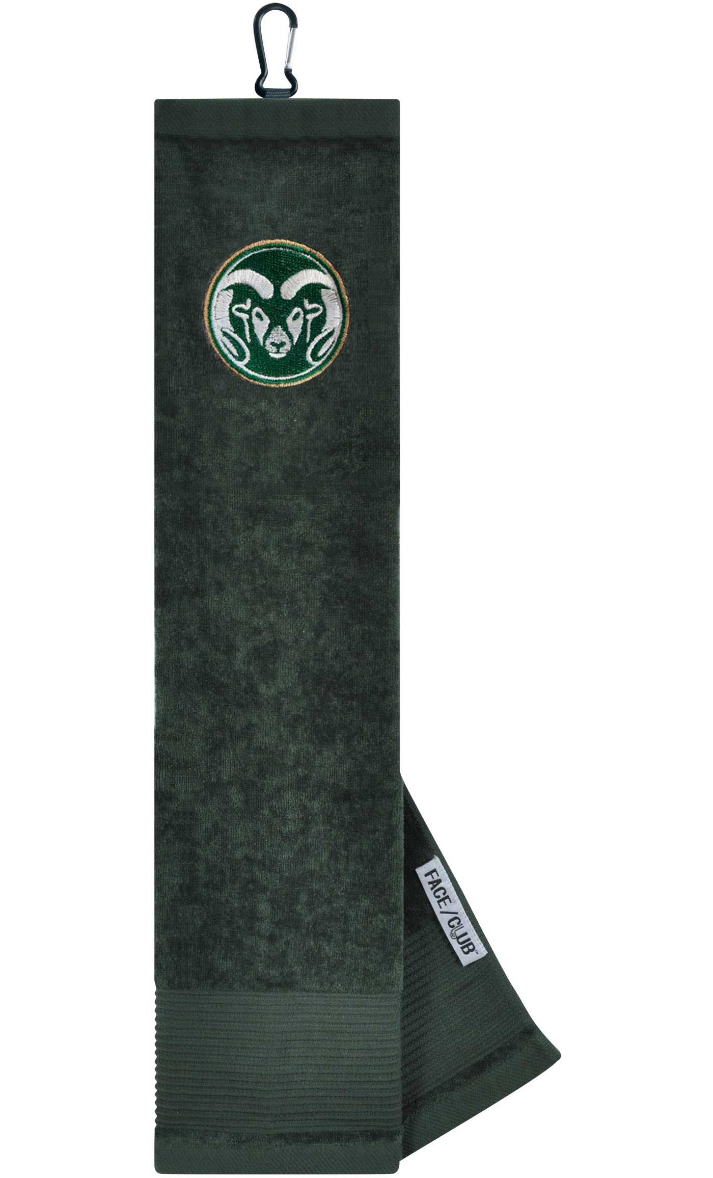 Team Effort Colorado State Rams Embroidered Face/Club Tri-Fold Towel