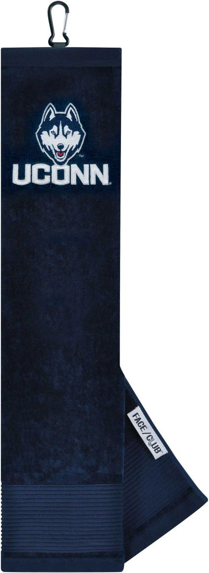 Team Effort UConn Huskies Embroidered Face/Club Tri-Fold Towel
