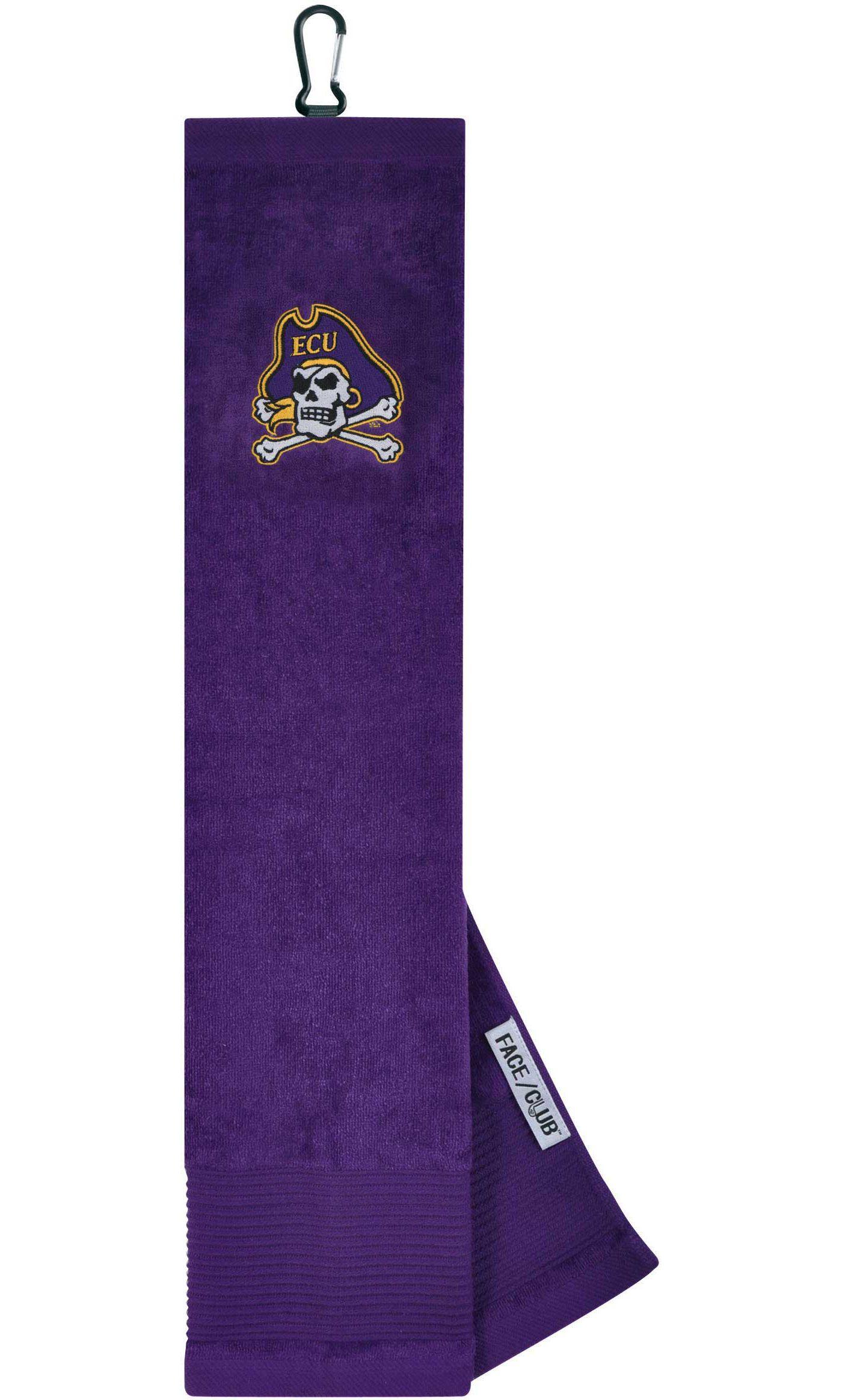 Team Effort East Carolina Pirates Embroidered Face/Club Tri-Fold Towel