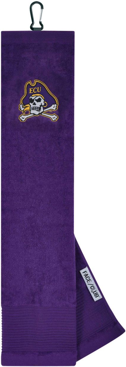 Team Effort East Carolina Pirates Embroidered Face/Club Tri-Fold Towel