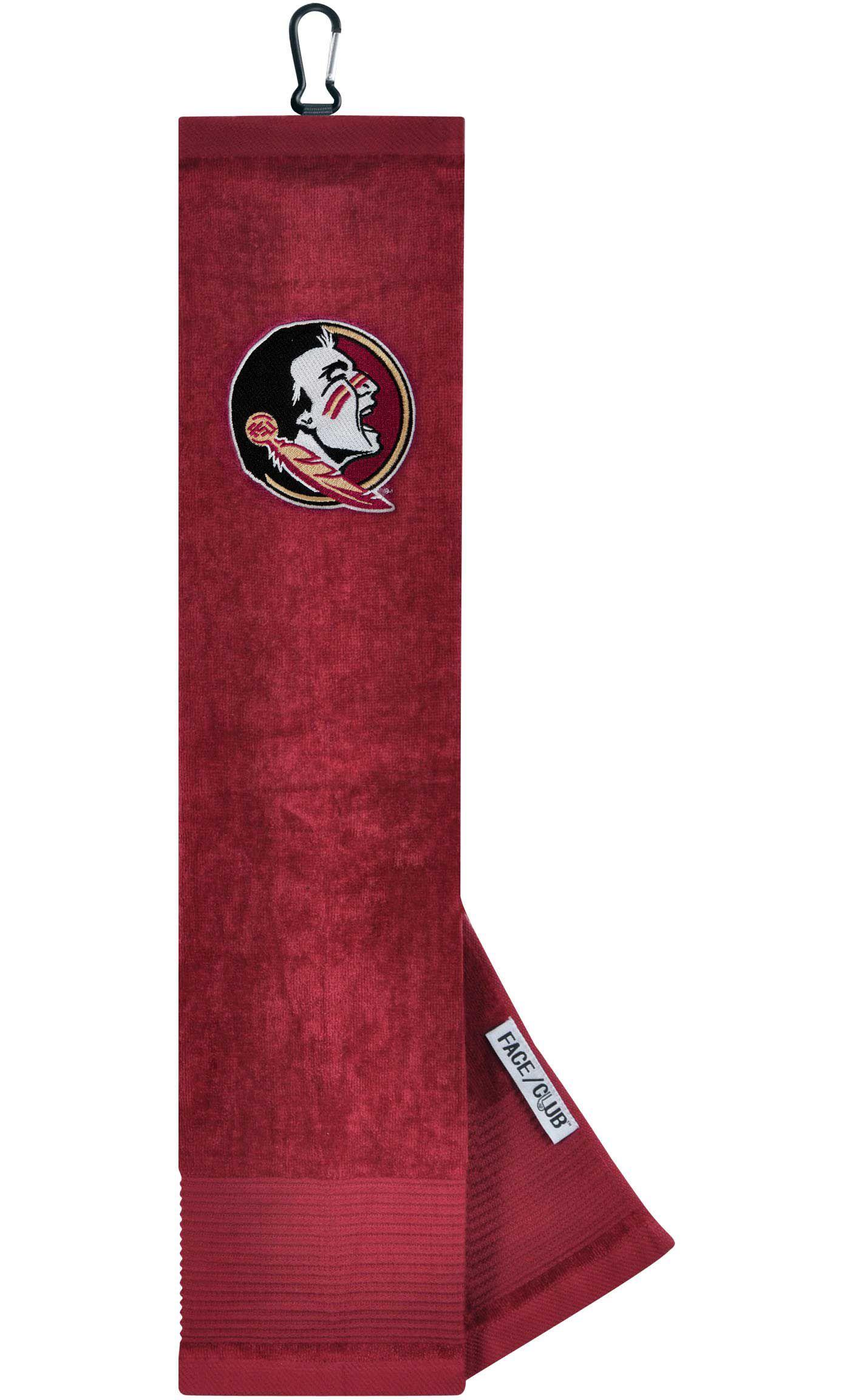 Team Effort Florida State Seminoles Embroidered Face/Club Tri-Fold Towel