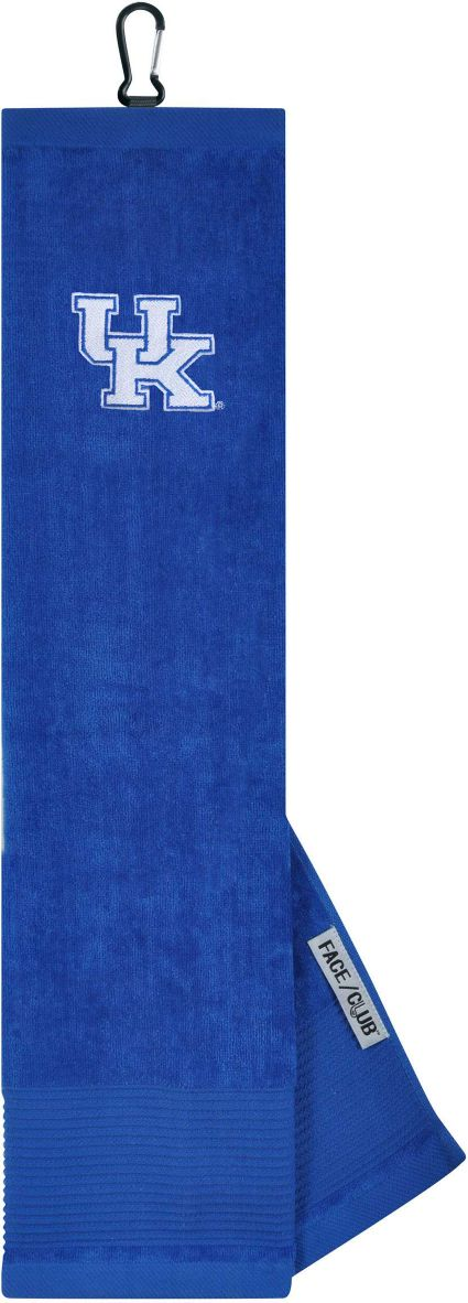 Team Effort Kentucky Wildcats Embroidered Face/Club Tri-Fold Towel
