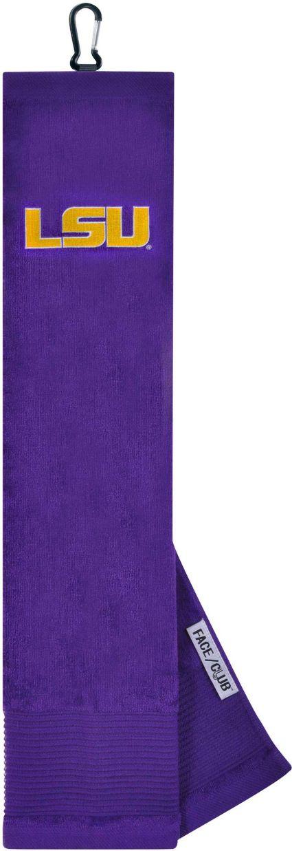 Team Effort LSU Tigers Embroidered Face/Club Tri-Fold Towel
