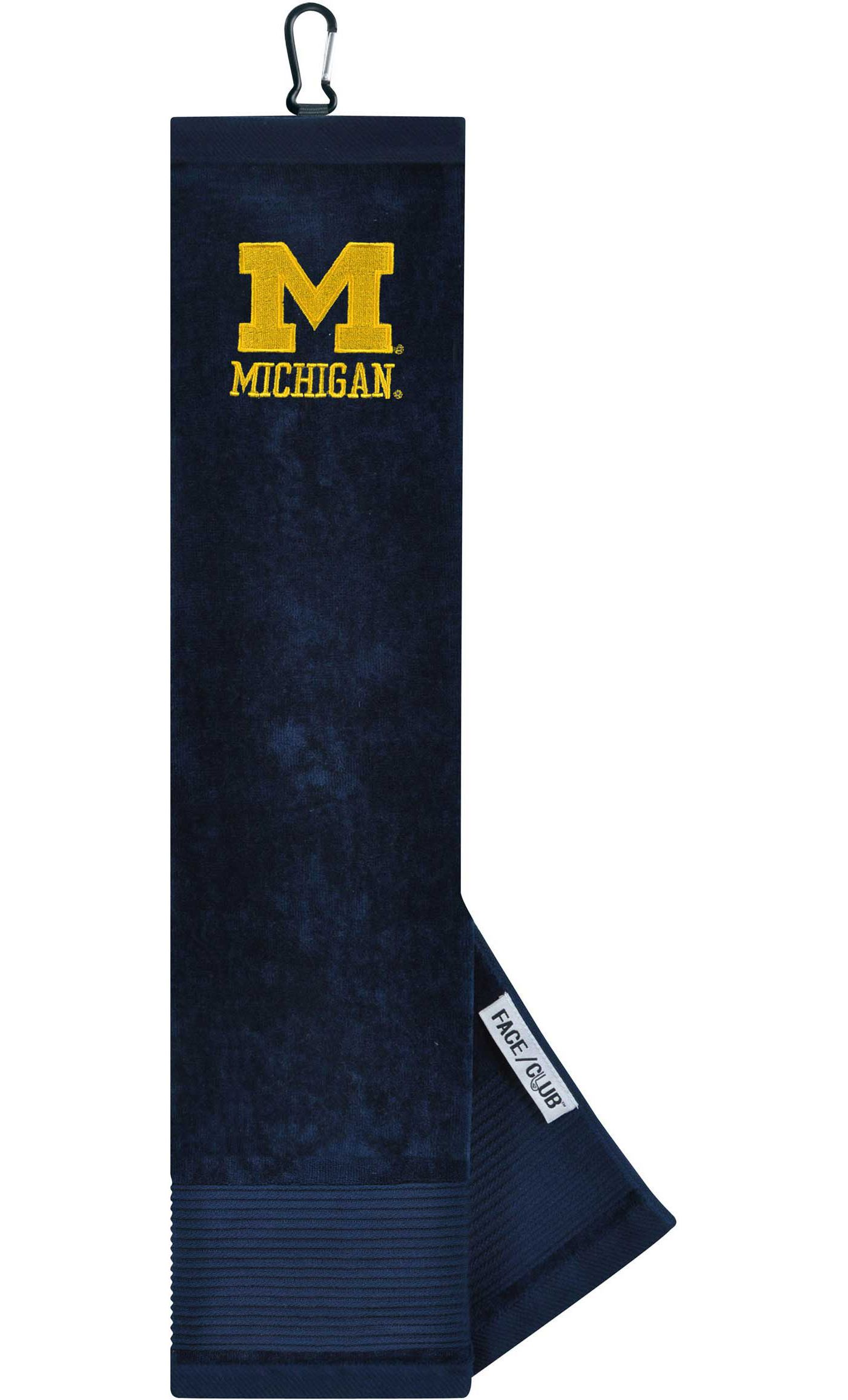 Team Effort Michigan Wolverines Embroidered Face/Club Tri-Fold Towel