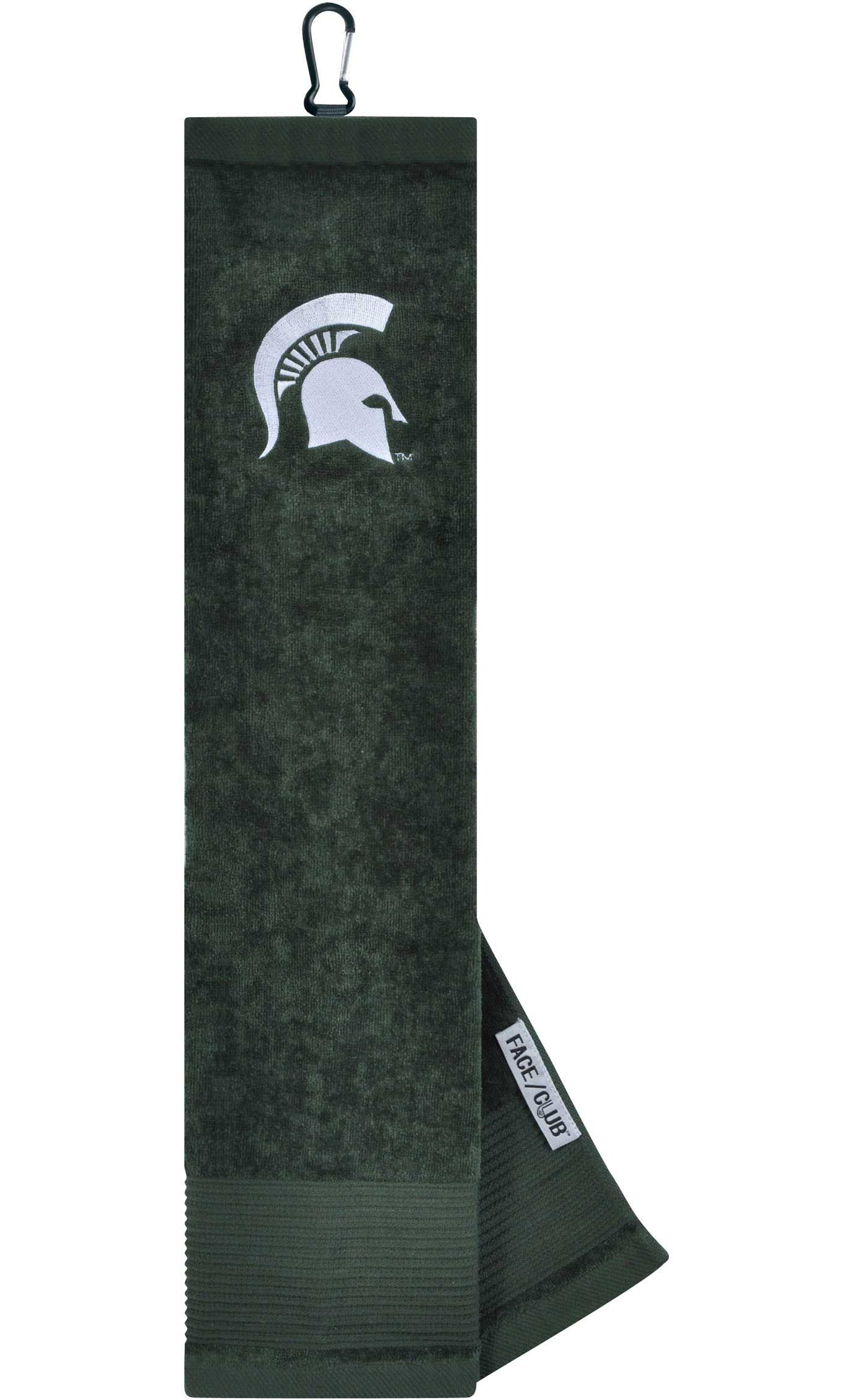 Team Effort Michigan State Spartans Embroidered Face/Club Tri-Fold Towel