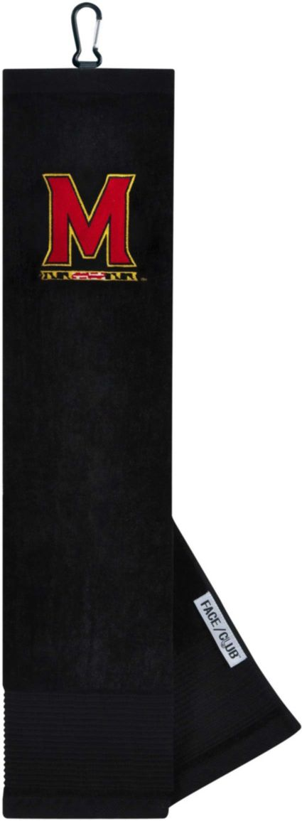 Team Effort Maryland Terrapins Embroidered Face/Club Tri-Fold Towel
