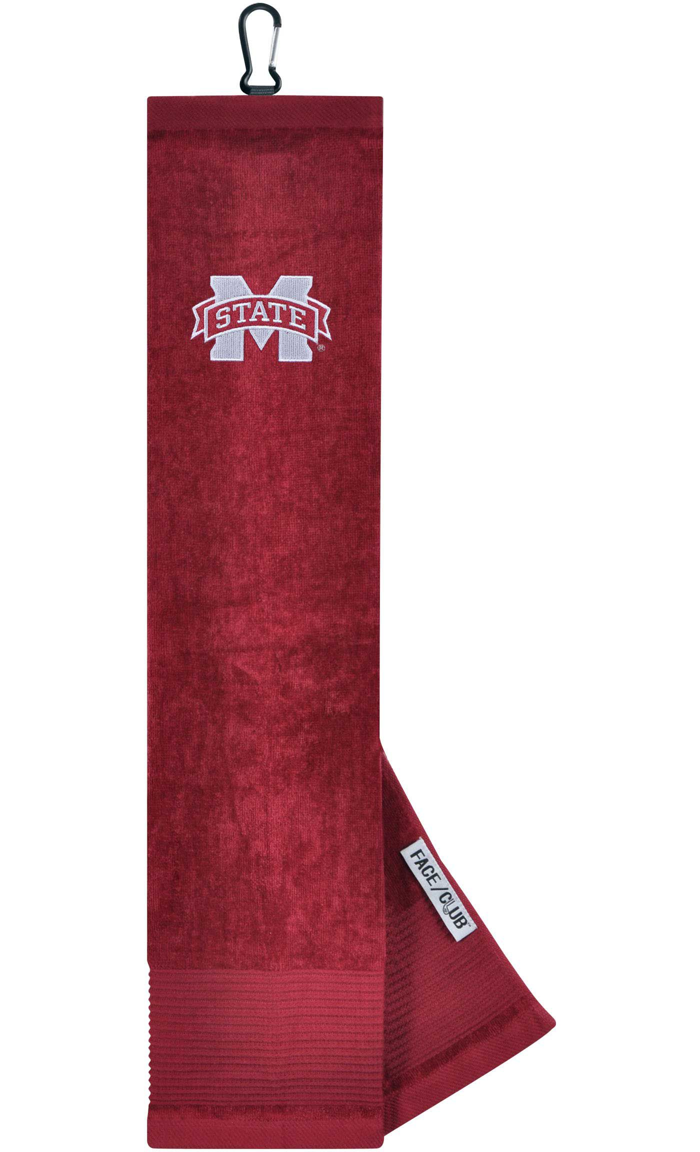 Team Effort Mississippi State Bulldogs Embroidered Face/Club Tri-Fold Towel