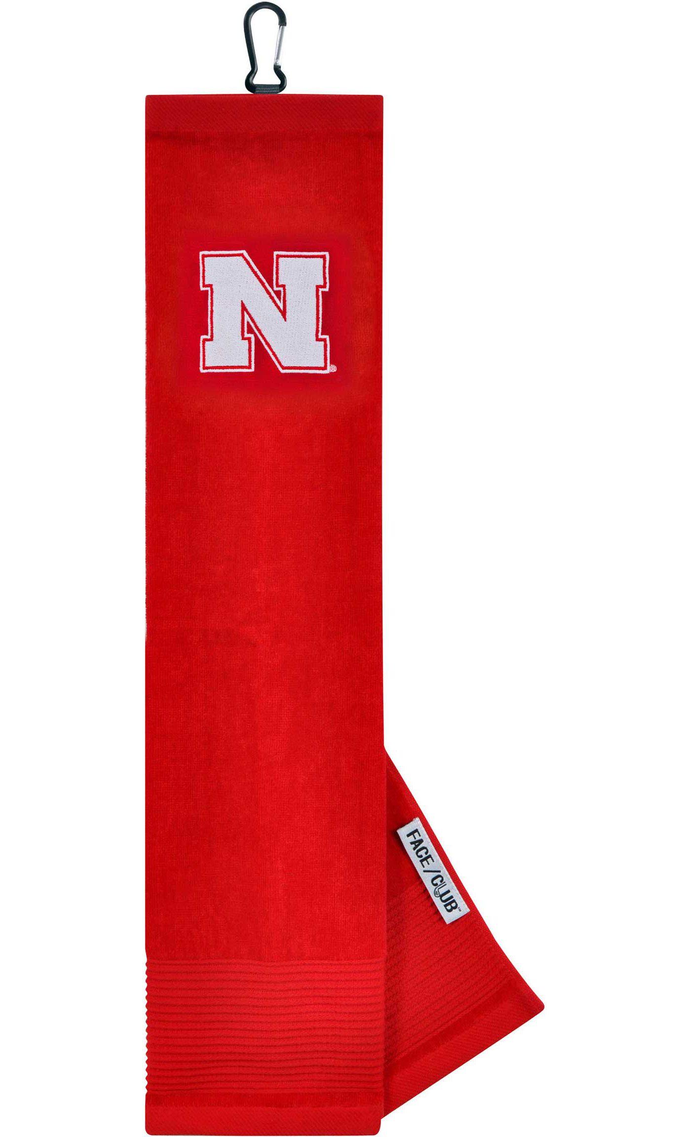 Team Effort Nebraska Cornhuskers Embroidered Face/Club Tri-Fold Towel