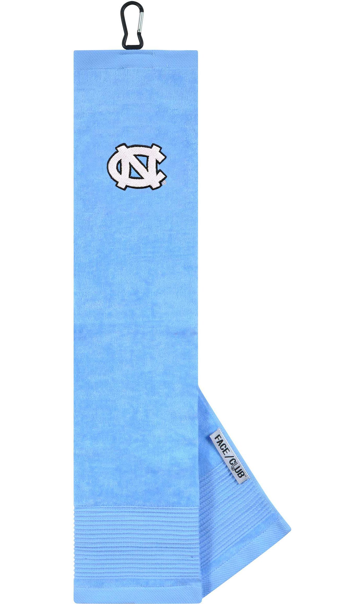 Team Effort North Carolina Tar Heels Embroidered Face/Club Tri-Fold Towel