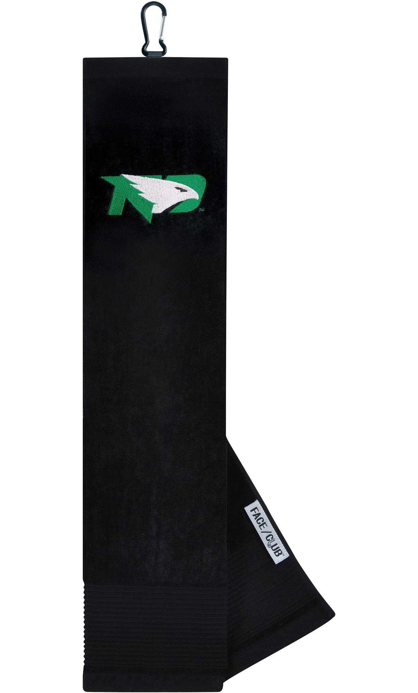 Team Effort North Dakota Fighting Hawks Embroidered Face/Club Tri-Fold Towel