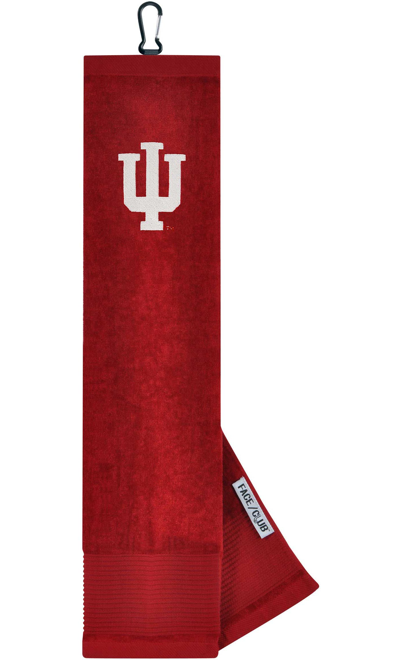 Team Effort Indiana Hoosiers Embroidered Face/Club Tri-Fold Towel