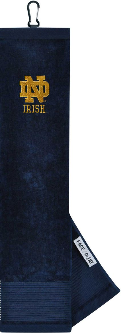 Team Effort Notre Dame Fighting Irish Embroidered Face/Club Tri-Fold Towel