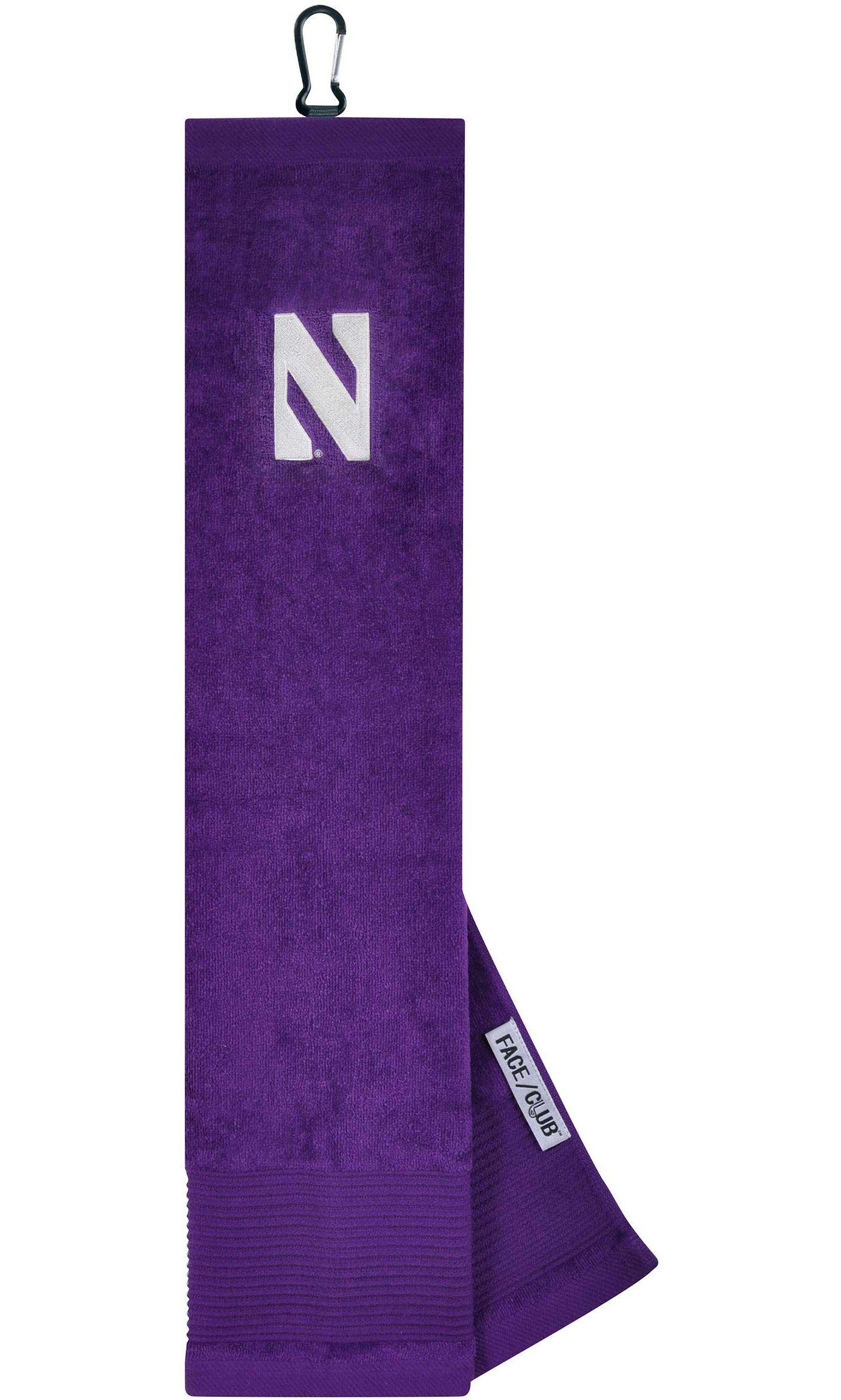 Team Effort Northwestern Wildcats Embroidered Face/Club Tri-Fold Towel