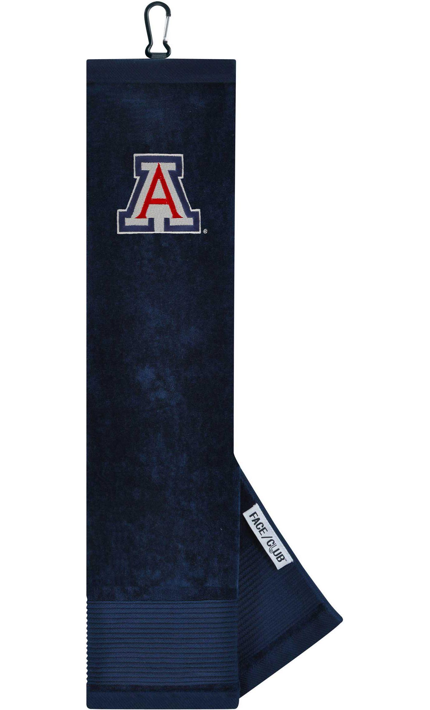 Team Effort Arizona Wildcats Embroidered Face/Club Tri-Fold Towel