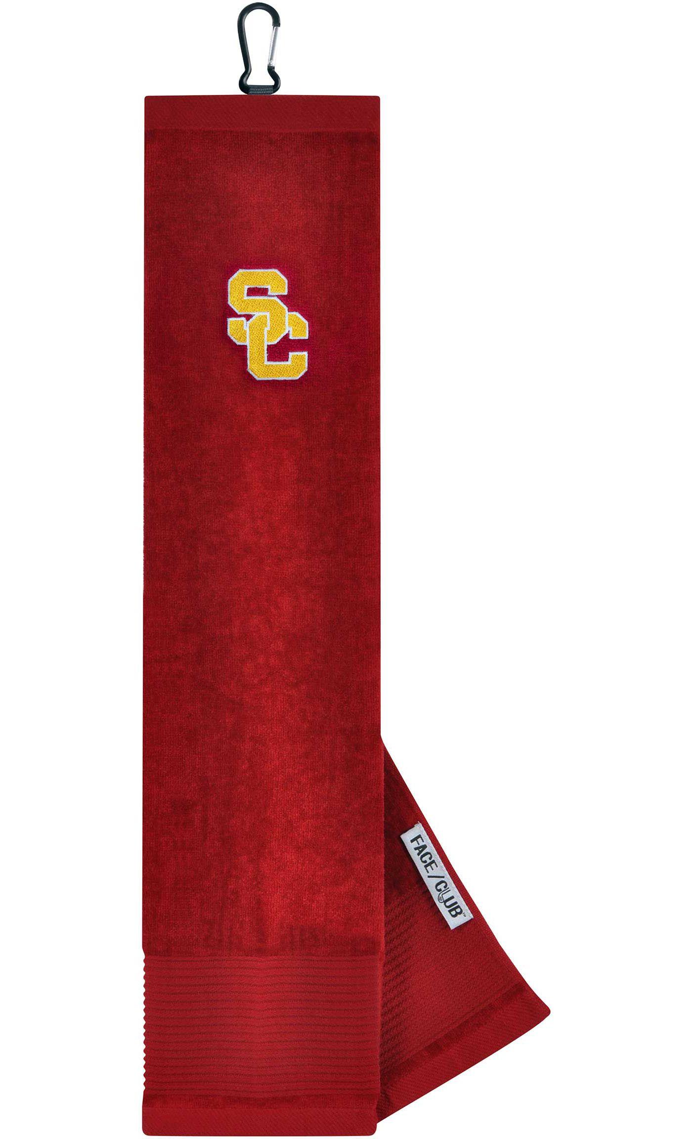 Team Effort USC Trojans Embroidered Face/Club Tri-Fold Towel