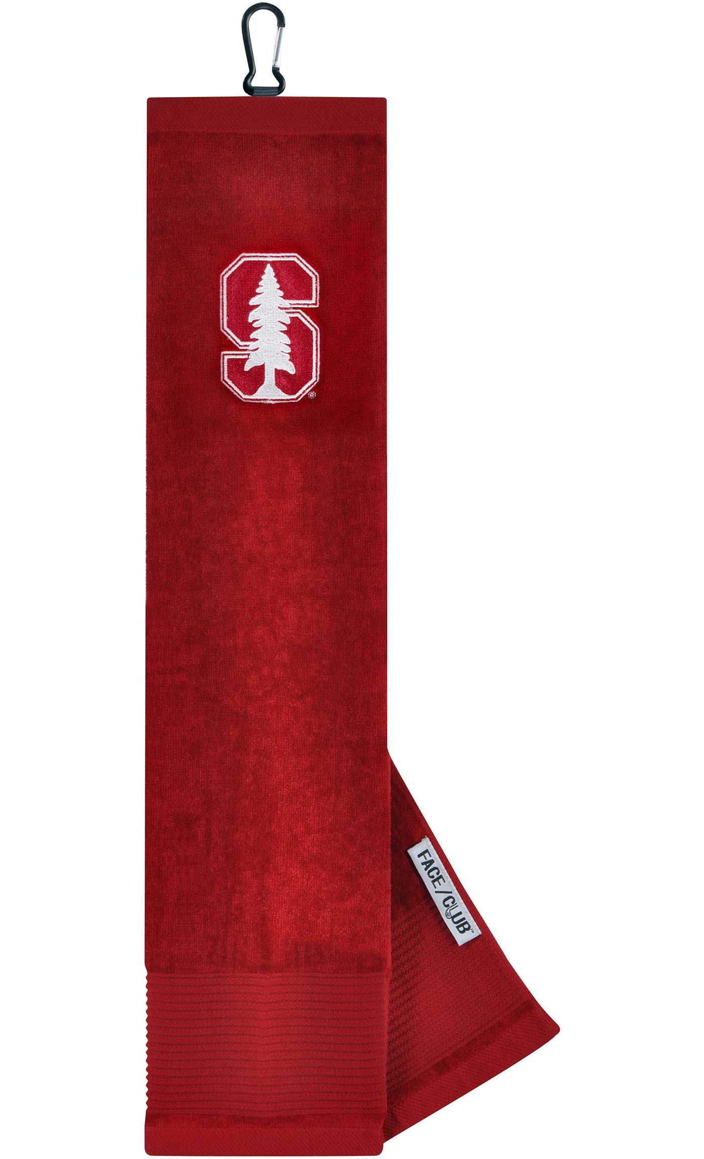 Team Effort Stanford Cardinal Embroidered Face/Club Tri-Fold Towel