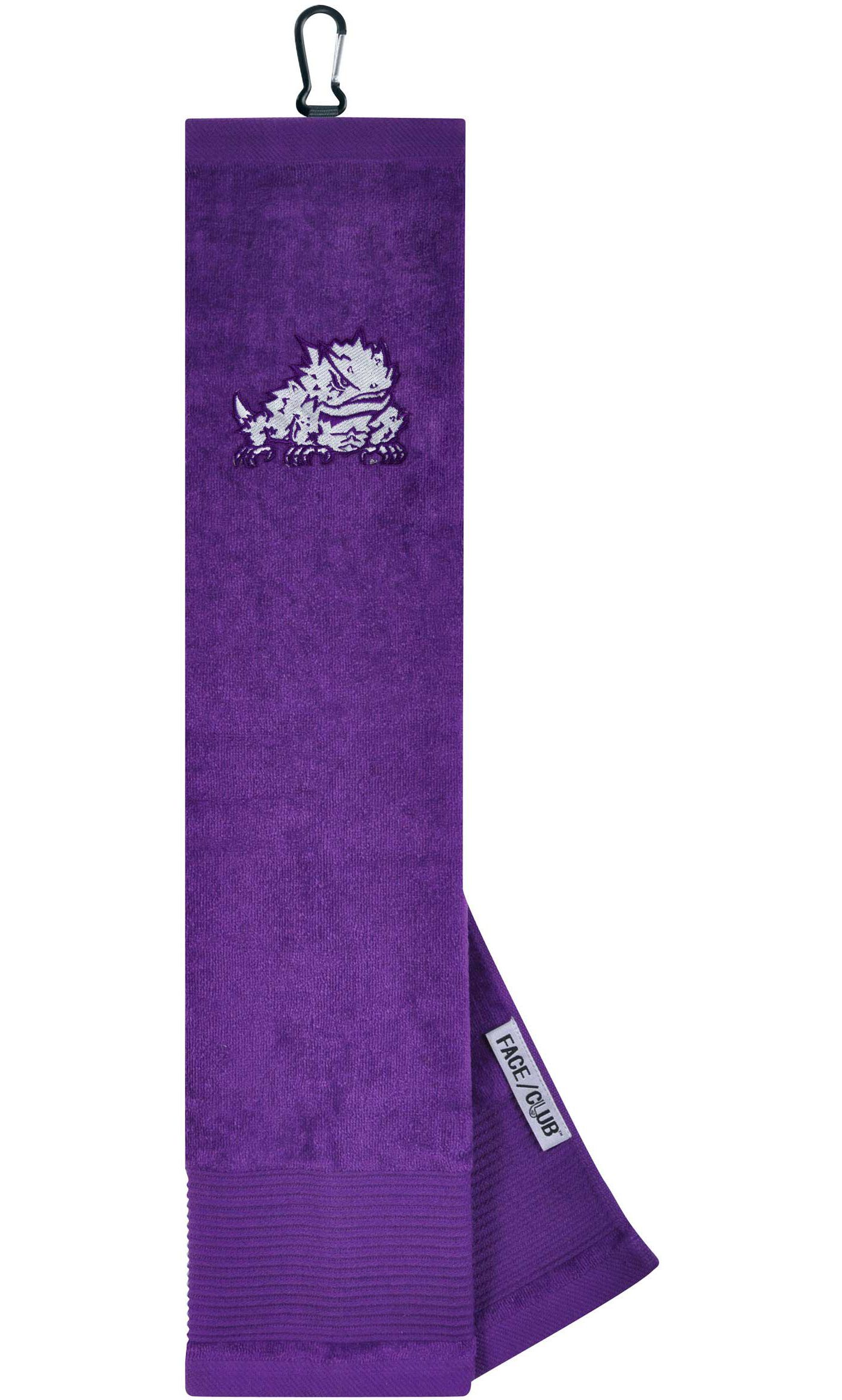 Team Effort TCU Horned Frogs Embroidered Face/Club Tri-Fold Towel