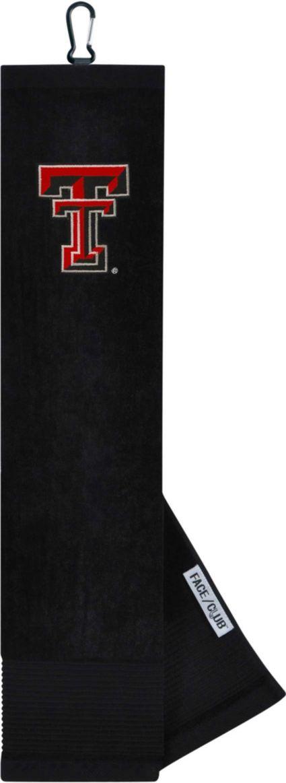 Team Effort Texas Tech Red Raiders Embroidered Face/Club Tri-Fold Towel
