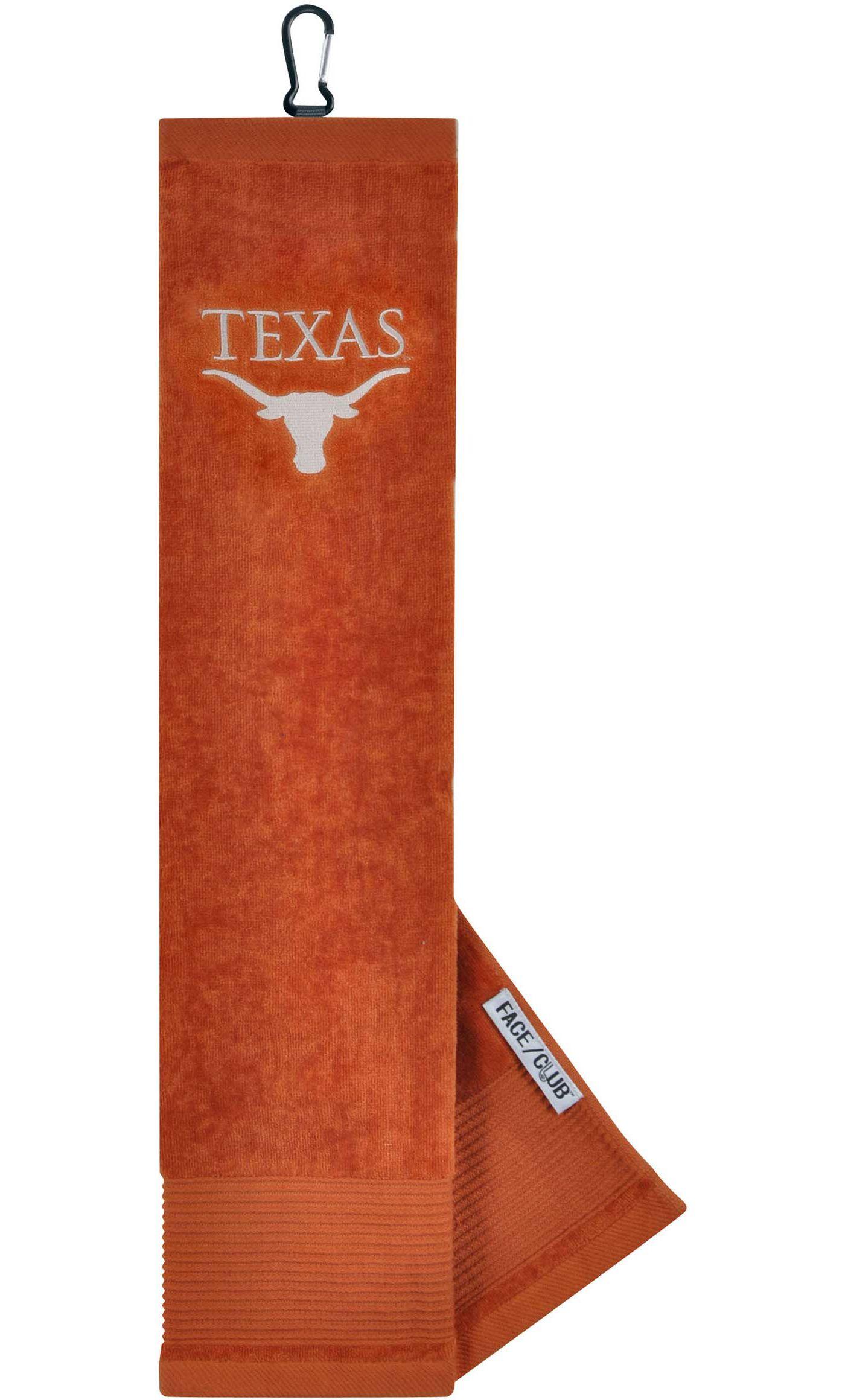 Team Effort Texas Longhorns Embroidered Face/Club Tri-Fold Towel