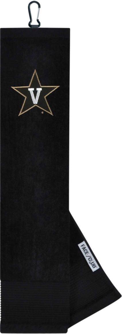 Team Effort Vanderbilt Commodores Embroidered Face/Club Tri-Fold Towel