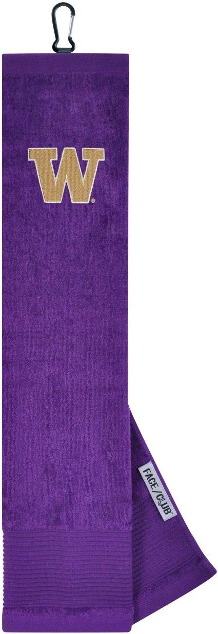 Team Effort Washington Huskies Embroidered Face/Club Tri-Fold Towel