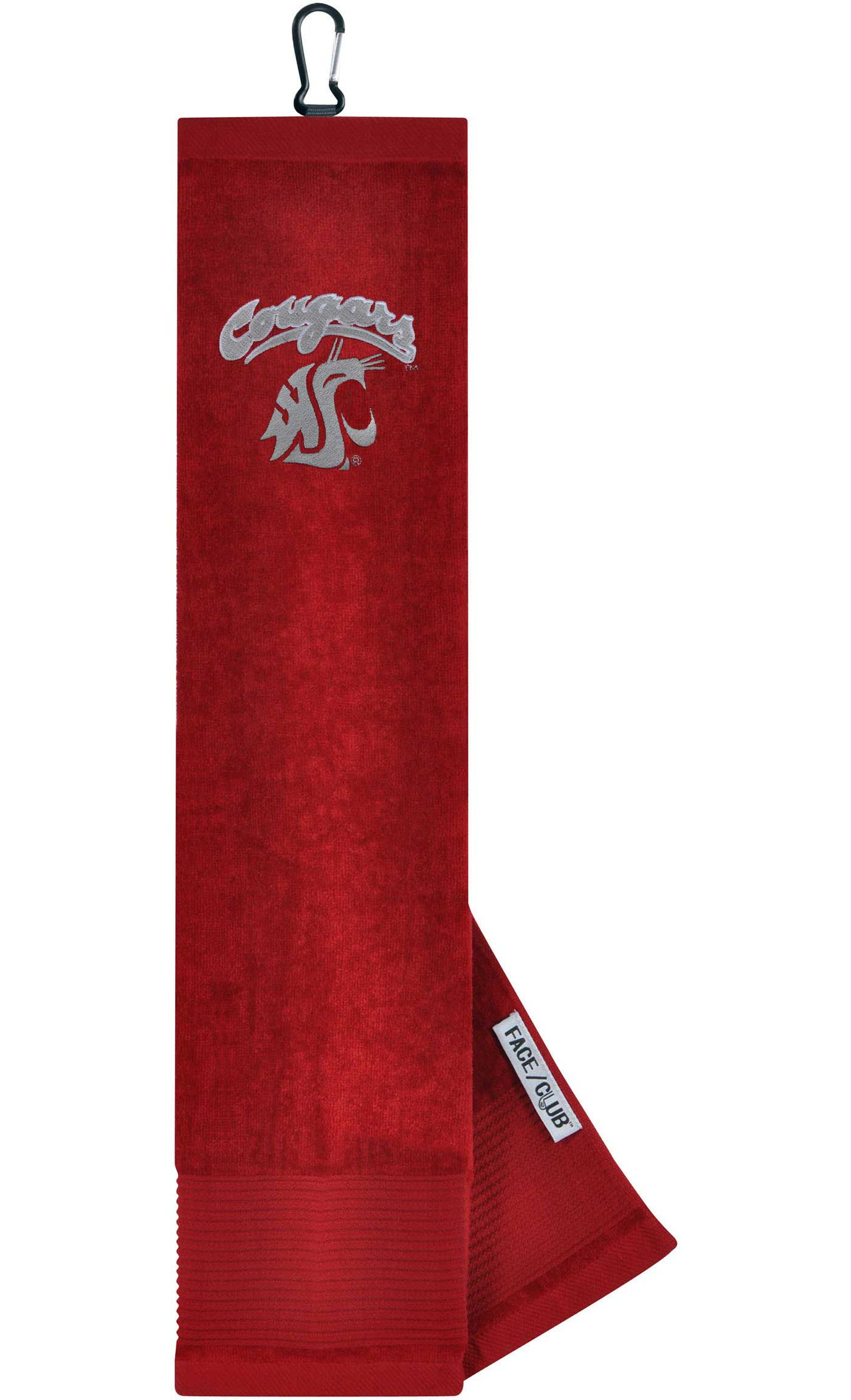 Team Effort Washington State Cougars Embroidered Face/Club Tri-Fold Towel