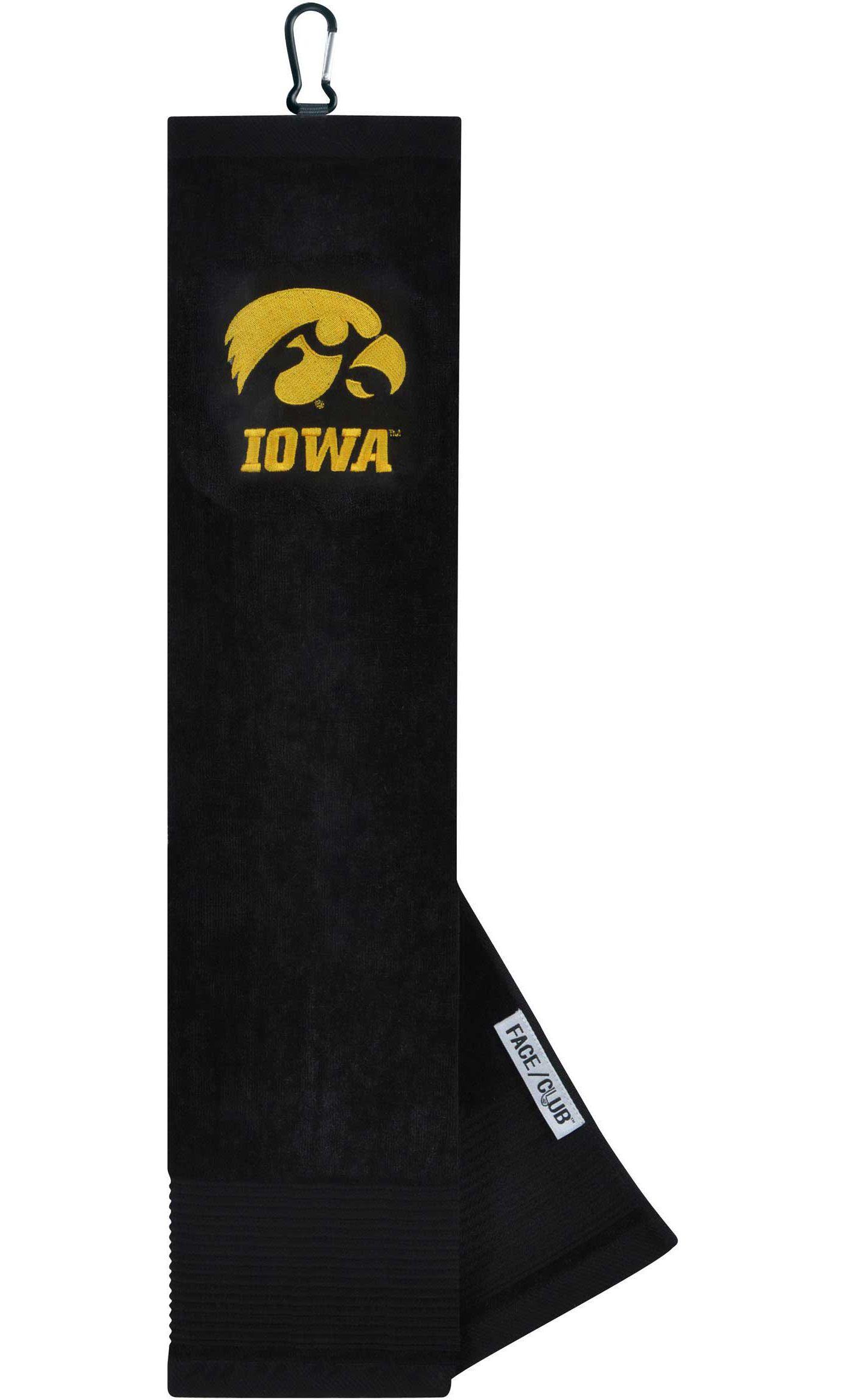 Team Effort Iowa Hawkeyes Embroidered Face/Club Tri-Fold Towel