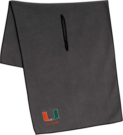 "Team Effort Miami Hurricanes 16"" x 41"" Microfiber Golf Towel"