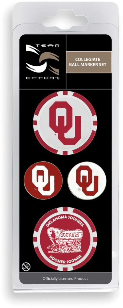 Team Effort Oklahoma Sooners Ball Marker Set