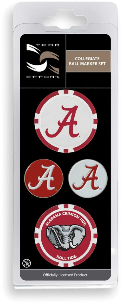 Team Effort Alabama Crimson Tide Ball Marker Set
