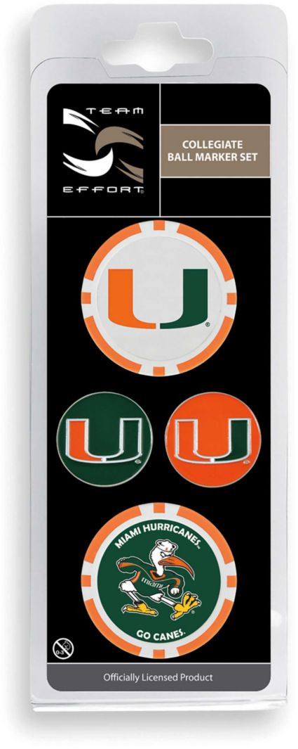 Team Effort Miami Hurricanes Ball Marker Set