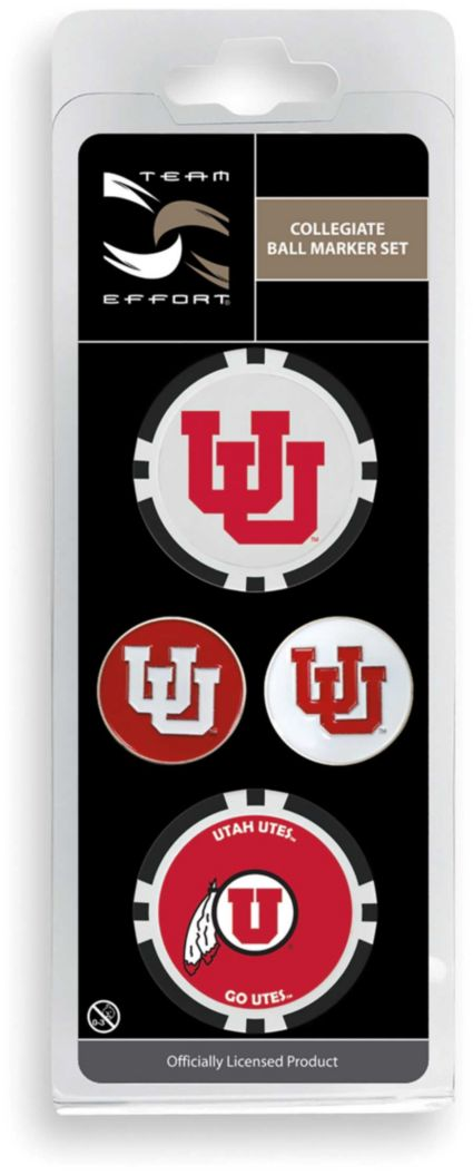 Team Effort Utah Utes Ball Marker Set