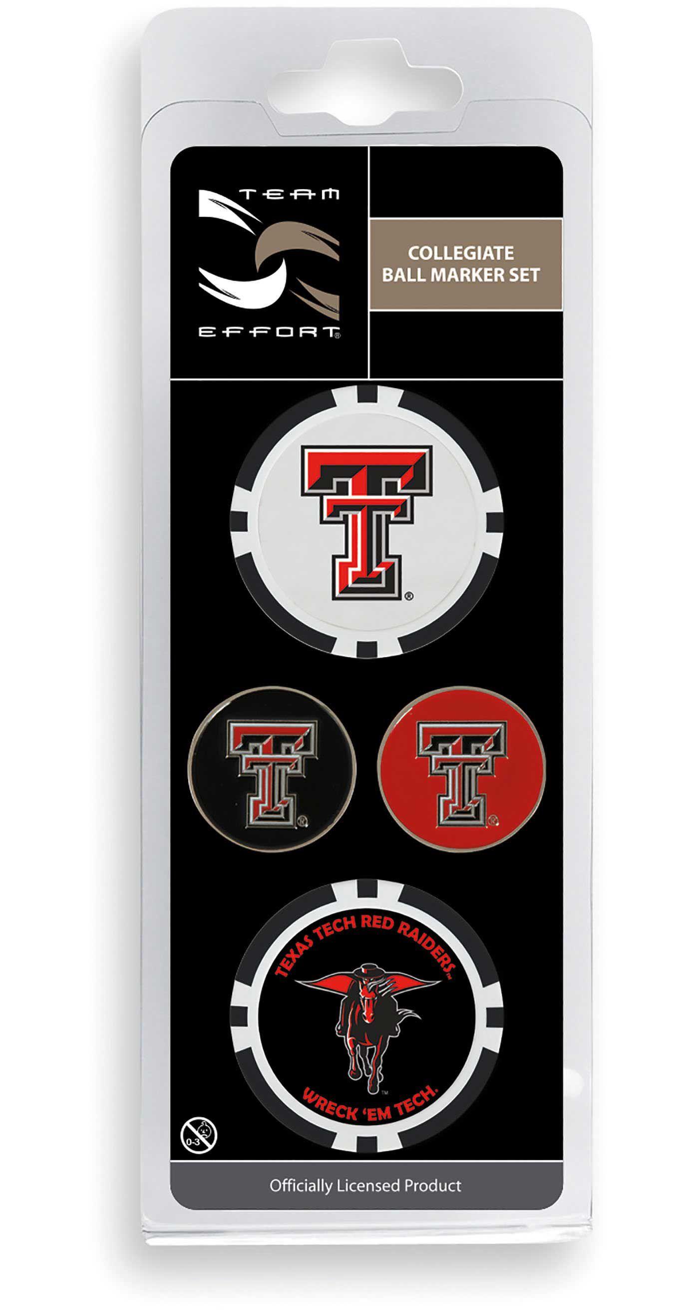 Team Effort Texas Tech Red Raiders Ball Marker Set