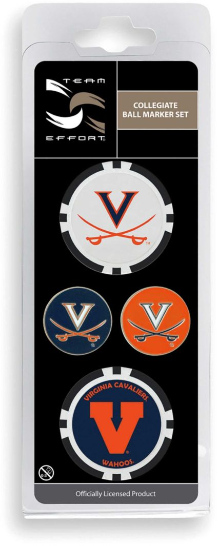Team Effort Virginia Cavaliers Ball Marker Set