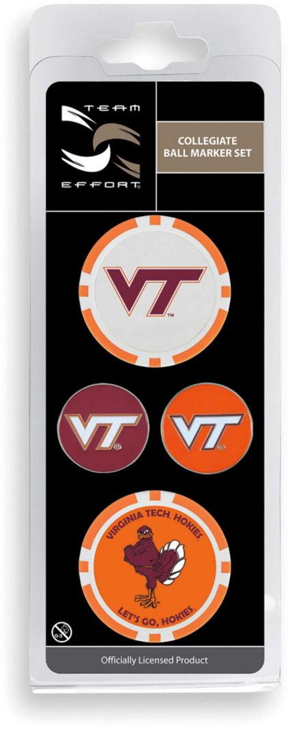Team Effort Virginia Tech Hokies Ball Marker Set