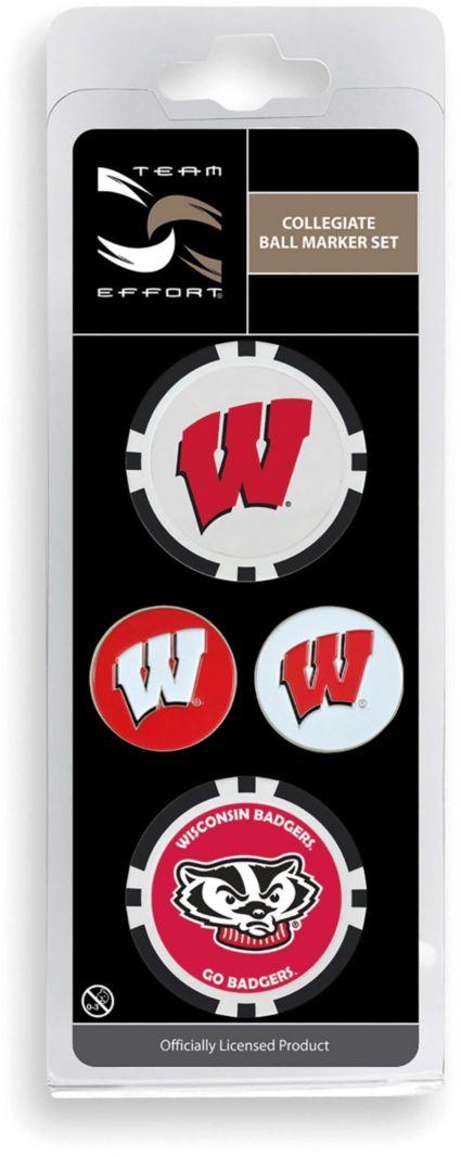 Team Effort Wisconsin Badgers Ball Marker Set