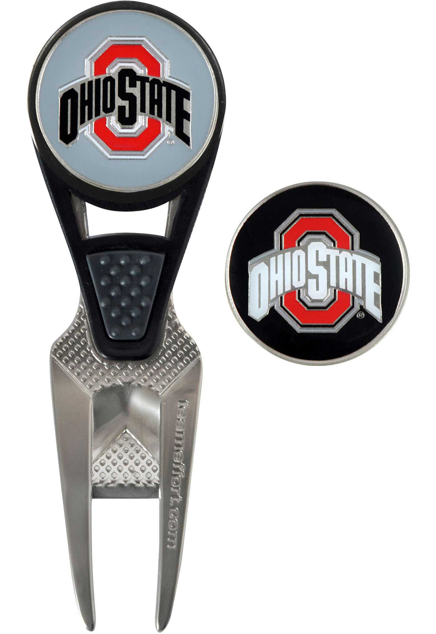 Team Effort Ohio State Buckeyes CVX Divot Tool and Ball Marker Set