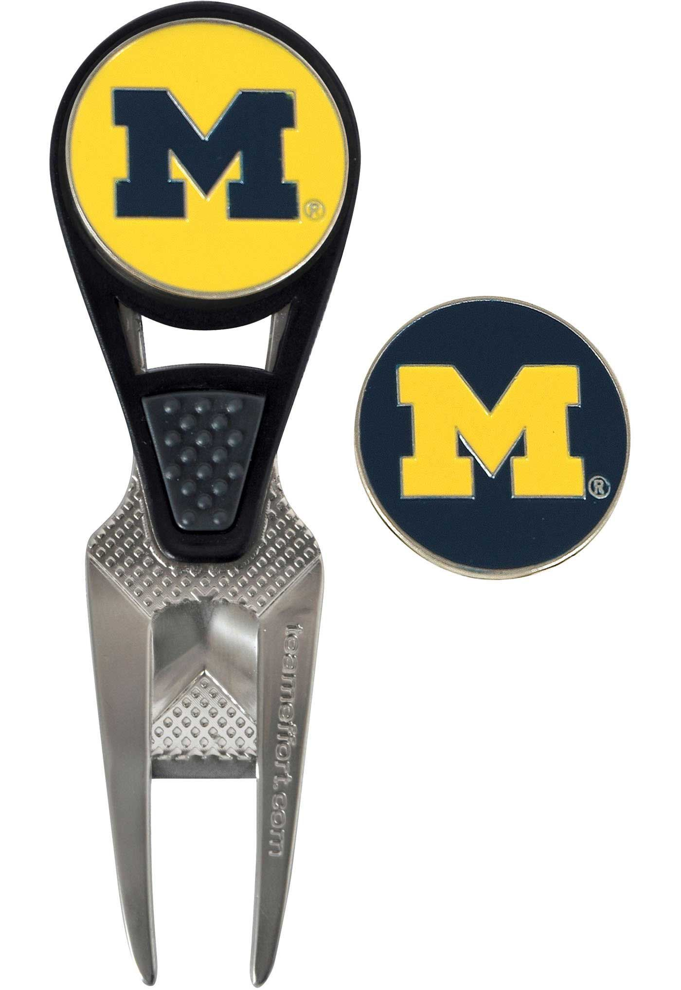 Team Effort Michigan Wolverines CVX Divot Tool and Ball Marker Set