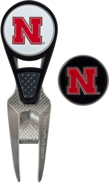 Team Effort Nebraska Cornhuskers CVX Divot Tool and Ball Marker Set