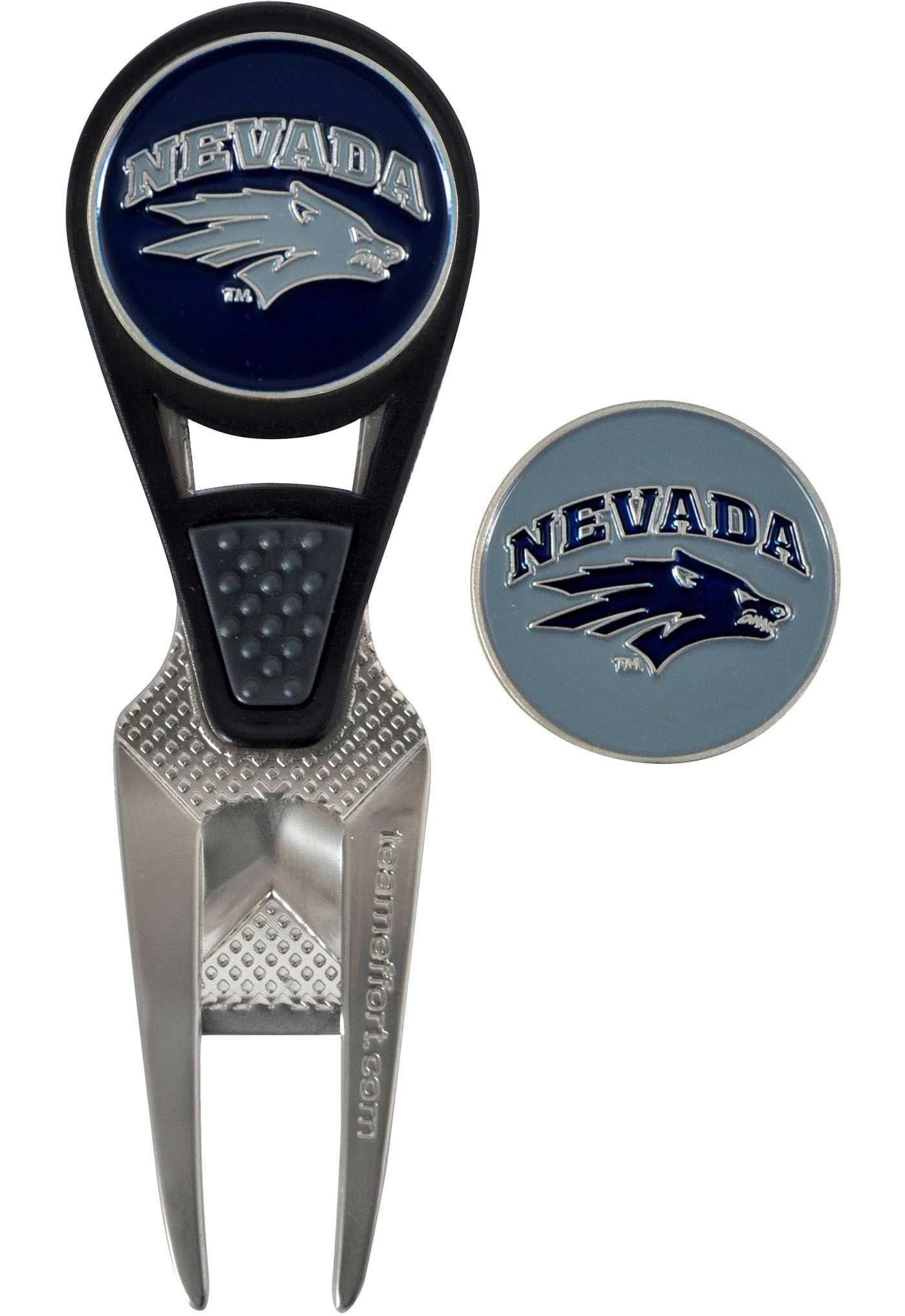 Team Effort Nevada Wolf Pack CVX Divot Tool and Ball Marker Set