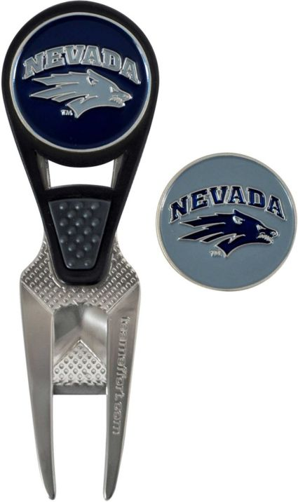Team Effort Nevada Wolf Pack CVX Divot Tool and Ball Marker Set