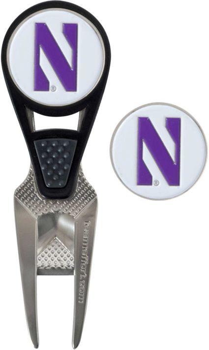 Team Effort Northwestern Wildcats CVX Divot Tool and Ball Marker Set