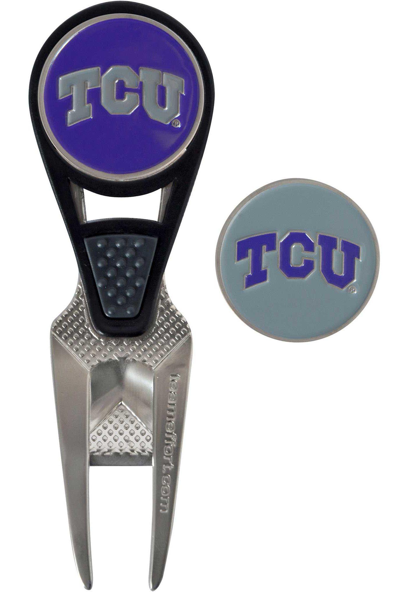 Team Effort TCU Horned Frogs CVX Divot Tool and Ball Marker Set
