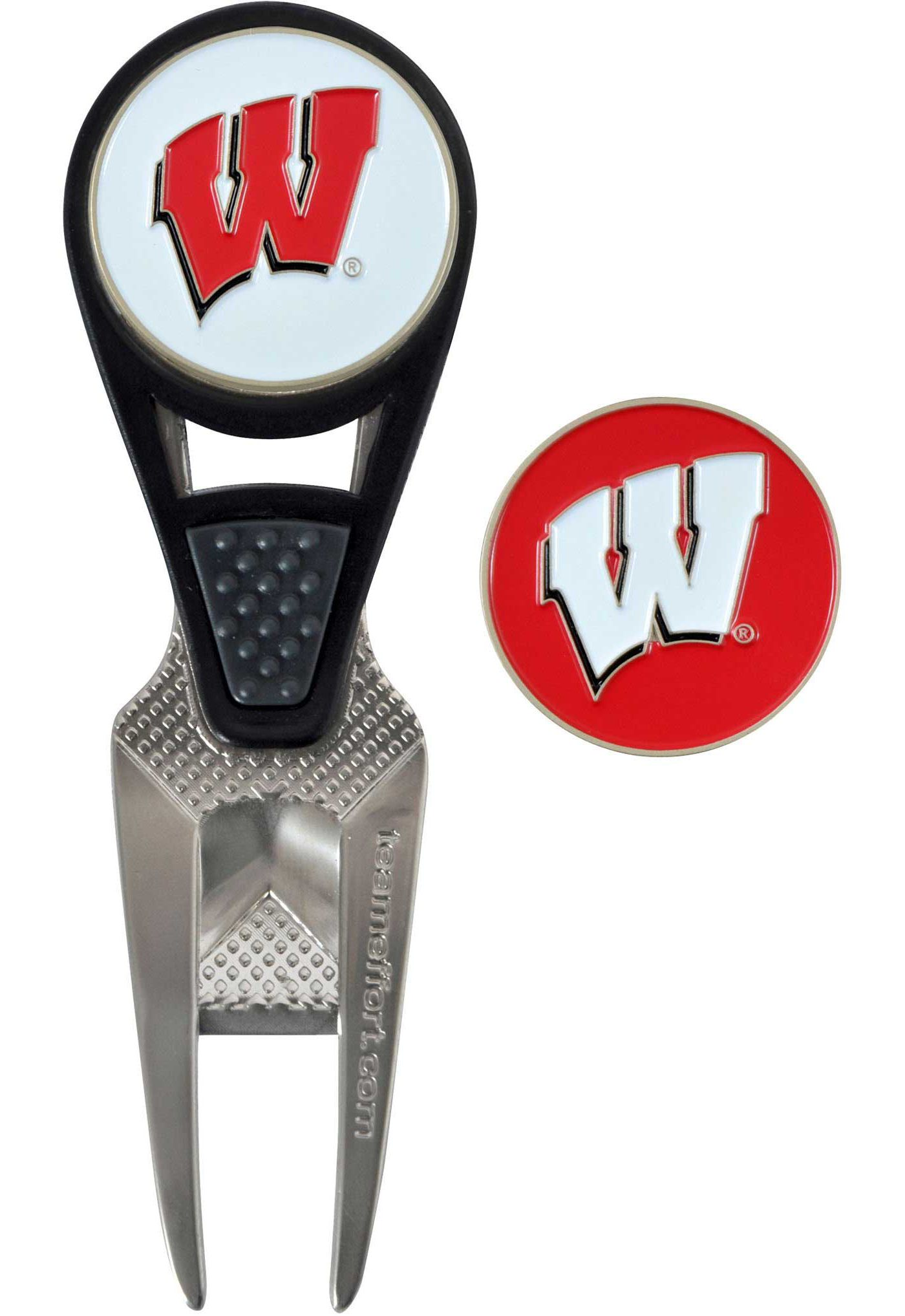 Team Effort Wisconsin Badgers CVX Divot Tool and Ball Marker Set
