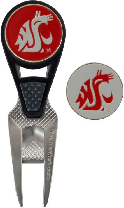 Team Effort Washington State Cougars CVX Divot Tool and Ball Marker Set