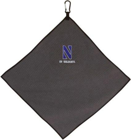 """Team Effort Northwestern Wildcats 15"""" x 15"""" Microfiber Golf Towel"""