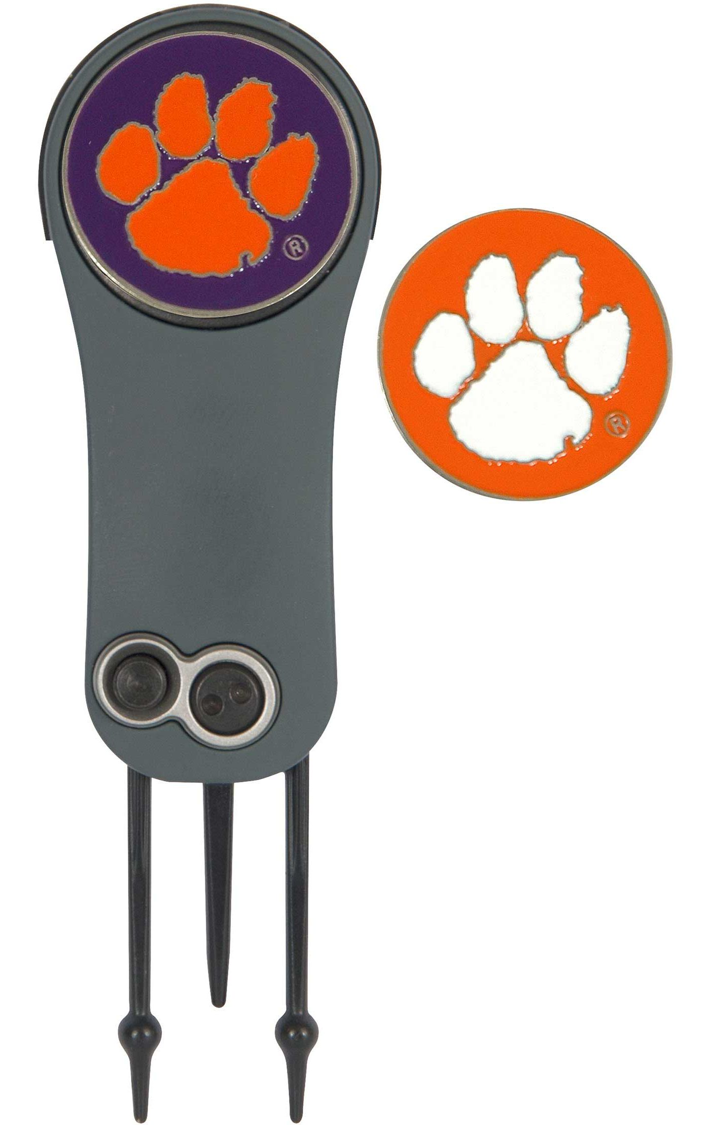 Team Effort Clemson Tigers Switchblade Divot Tool and Ball Marker Set