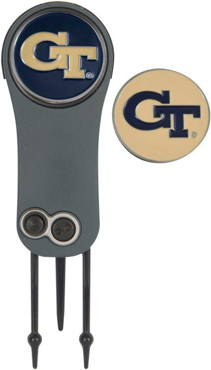 Team Effort Georgia Tech Yellow Jackets Switchblade Divot Tool and Ball Marker Set