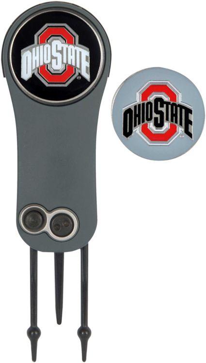Team Effort Ohio State Buckeyes Switchblade Divot Tool and Ball Marker Set