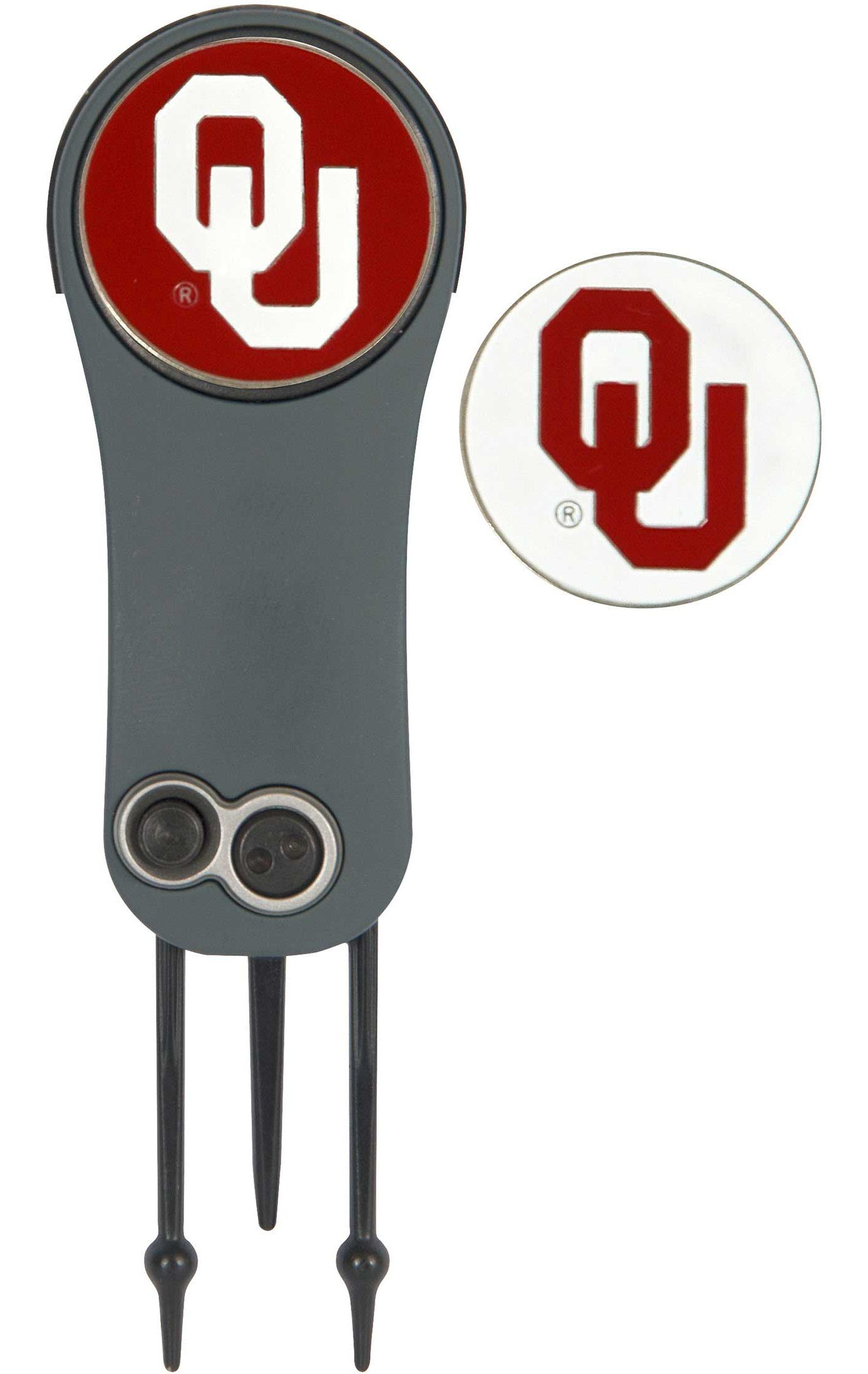 Team Effort Oklahoma Sooners Switchblade Divot Tool and Ball Marker Set